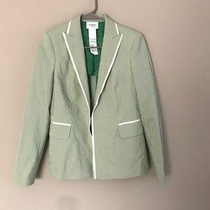 Akris punto Seersucker Blazer w/ Contrast Piping